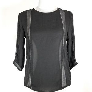 Zara Wb Collection Women's Black Blouse Size Small
